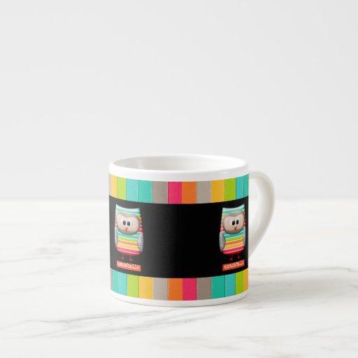 El búho rayado asombroso de Amazeballs Taza De Espresso