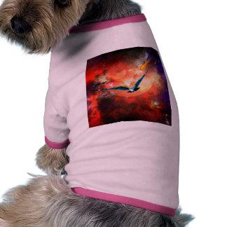 El búho camiseta con mangas para perro