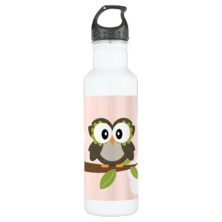 El búho rosado BPA de la raya libera