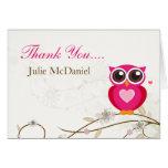 El búho rosado caprichoso le agradece las tarjetas