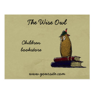 El búho sabio tarjetas postales