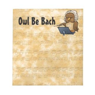 El búho sea Bach Blocs De Notas