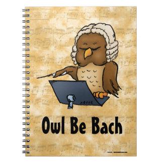 El búho sea Bach Libro De Apuntes Con Espiral