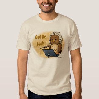 El búho sea camiseta divertida de Bach Poleras