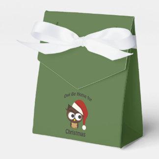 ¡El búho sea casero para el navidad! Caja Para Regalos