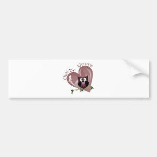 El búho sea el suyo, tarjeta de felicitación de la pegatina para auto