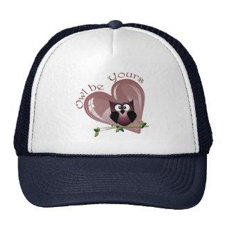 El búho sea el suyo, tarjeta del día de San Valent Gorros
