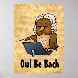 El búho sea poster de la música de Bach