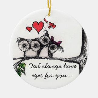 El búho tiene siempre ojos para usted… - Ornamento Ornato