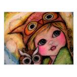 El búho tiene solamente ojos para usted - arte del tarjeta postal