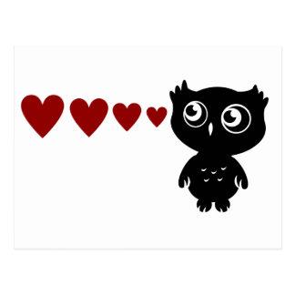 El búho ve el amor I Tarjeta Postal