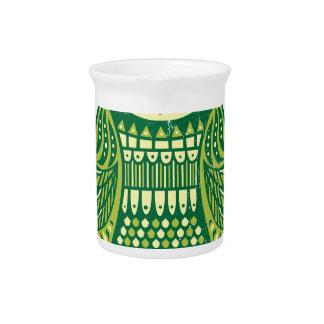 El búho verde jarras de beber