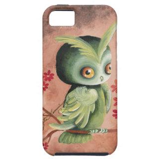 El búho verde serio iPhone 5 protectores