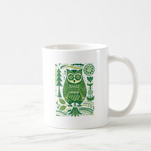 El búho verde taza