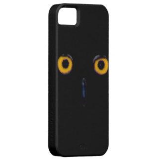 El búho viejo sabio fantasmagórico observa la cara iPhone 5 cobertura