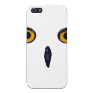 El búho viejo sabio observa la caja de la mota iPhone 5 funda
