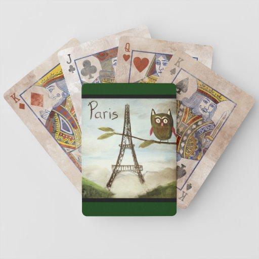 El búho visita París, parte Deux--Edición de juego Baraja De Cartas