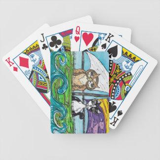 El búho y el minino barajas de cartas