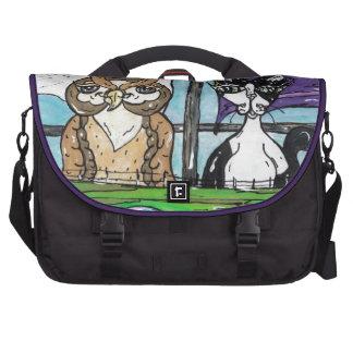 El búho y el minino bolsa de ordenador