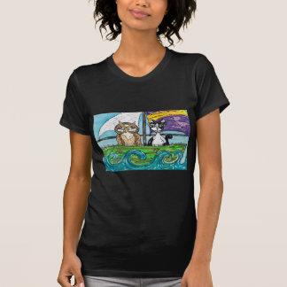 El búho y el minino camisetas