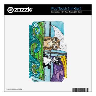 El búho y el minino iPod touch 4G skins