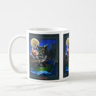 El búho y el minino taza de café