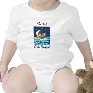 El búho y el minino trajes de bebé