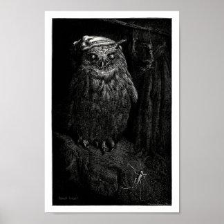El búho y el saltamontes poster