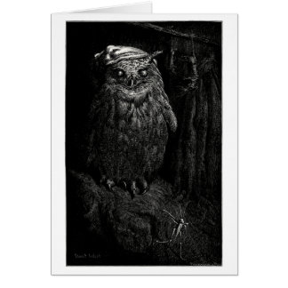 El búho y el saltamontes tarjeta de felicitación