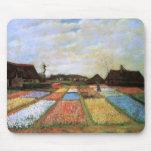 El bulbo de Van Gogh coloca la bella arte de Holan Tapetes De Ratones