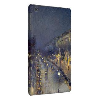 El bulevar Montmartre en la noche Fundas De iPad Mini Retina