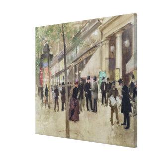 El bulevar Montmartre Impresión En Lienzo
