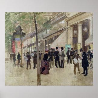 El bulevar Montmartre Póster