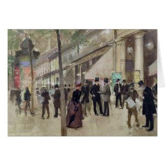 El bulevar Montmartre Tarjeta De Felicitación