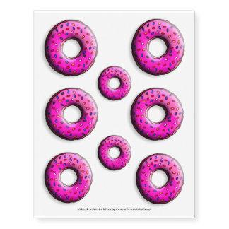 El buñuelo rosado con colorido asperja + sus ideas tatuajes temporales