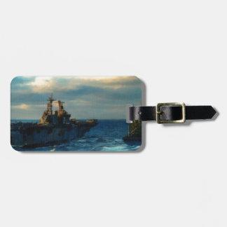 el buque de guerra 2 etiquetas bolsas