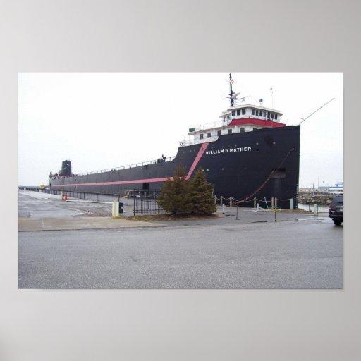 El buque de vapor Guillermo G. Mather Poster