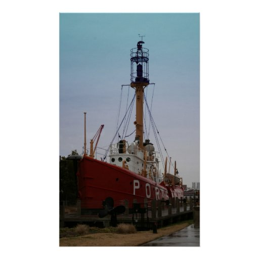 El buque faro Portsmouth Posters