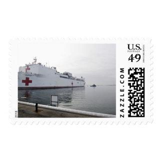 El buque hospital militar del comando del Sealift Estampilla
