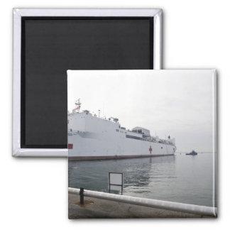 El buque hospital militar del comando del Sealift Imán Cuadrado