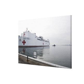 El buque hospital militar del comando del Sealift Lienzo Envuelto Para Galerias