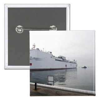 El buque hospital militar del comando del Sealift Pin Cuadrado