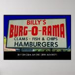 El burg-o-Rama de Billy, St. principal, Oxford, mA Impresiones