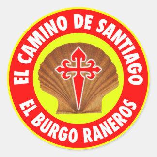 EL Burgo Raneros Pegatina Redonda