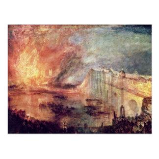 El Burning de las casas del parlamento de Turner Tarjetas Postales