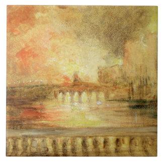 El Burning de las casas del parlamento, previousl Azulejo Cuadrado Grande