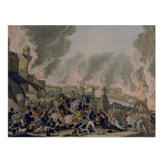 El Burning de Moscú, el 15 de septiembre de 1812,  Postales