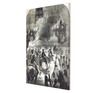 El burning de San Pablo viejo, 1666 Lienzo Envuelto Para Galerias