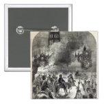 El burning de San Pablo viejo, 1666 Pin Cuadrada 5 Cm
