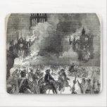 El burning de San Pablo viejo, 1666 Tapete De Ratón